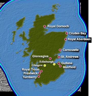 Scotland golf course map