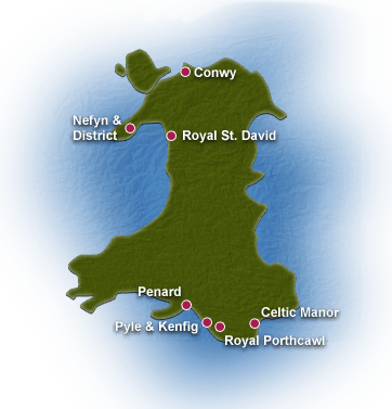 Wales golf course map